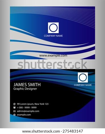 Premium business card design vector set stock vector 275483147 premium business card design vector set horizontal reheart Choice Image