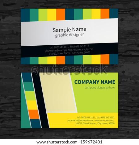 Premium business Card Set. Vector illustration. EPS10  - stock vector