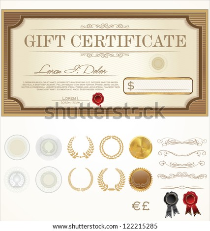 Premium Certificate Template - stock vector