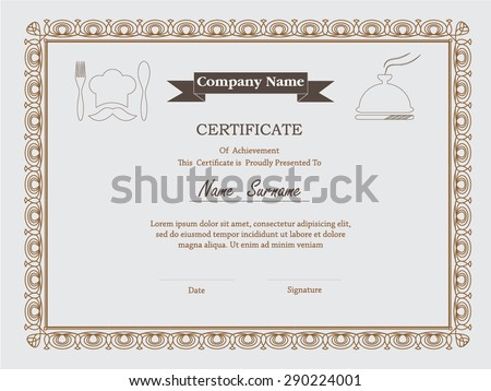premium certificate template with additional and ribbon design elements.