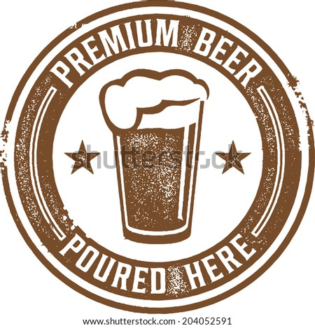 Premium Craft Beer Bar Sign - stock vector