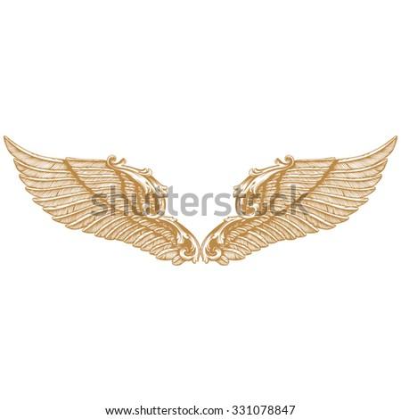 Premium Gold Vintage Baroque Frame Scroll Stock Vector 331078847