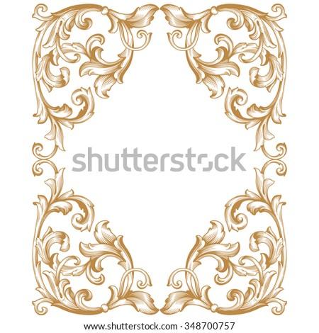 Gold Scroll Design