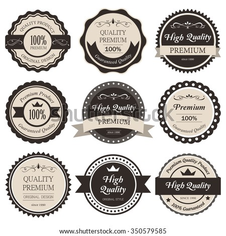 Premium label vintage style. old fashion classic product. - stock vector