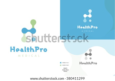 Premium medical logo design  - stock vector