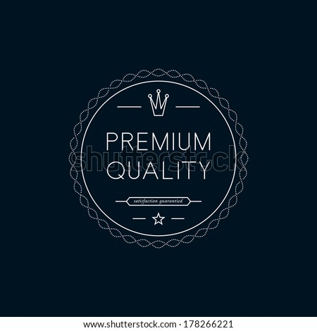 Premium Quality badge. Minimalistic - stock vector
