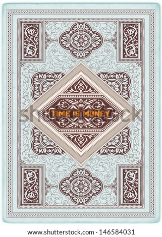 Premium Quality card. Baroque ornaments and floral details | Old paper texture background, - stock vector