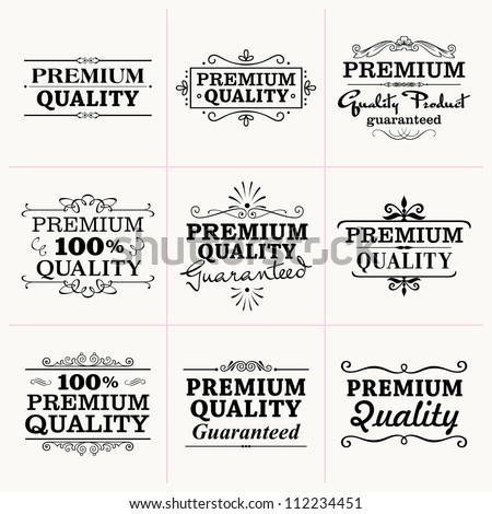 Premium Quality collection - stock vector
