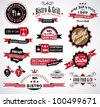 Premium quality collection of Restaurant, bistro and food & co labels with different styles and space for text. - stock vector