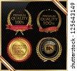 Premium quality different retro badge - stock vector