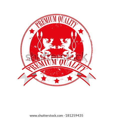 premium quality grunge stamp with on vector illustration