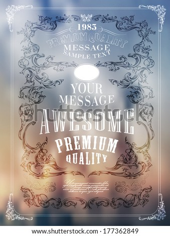 Premium Quality, Guarantee  typography design - stock vector