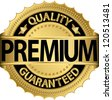 Premium quality guaranteed golden label, vector illustration - stock photo