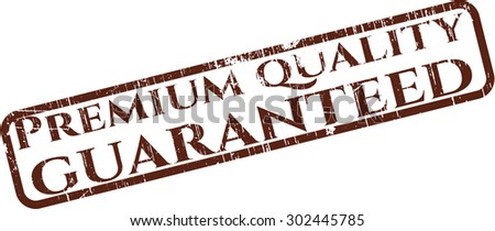Premium Quality Guaranteed rubber grunge stamp - stock vector