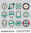 premium quality icons - stock vector