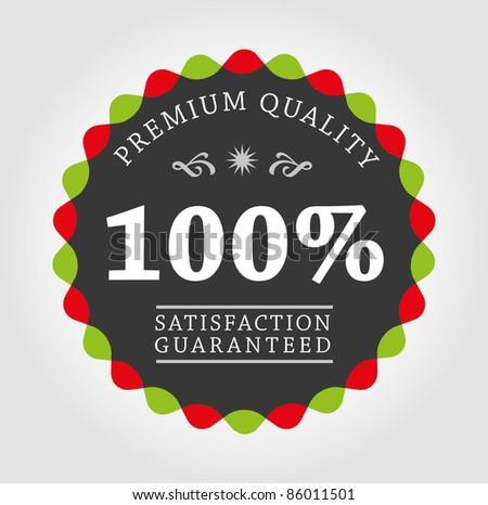 Premium quality label - stock vector