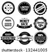 Premium Quality Label Collection in Vintage Style - stock vector