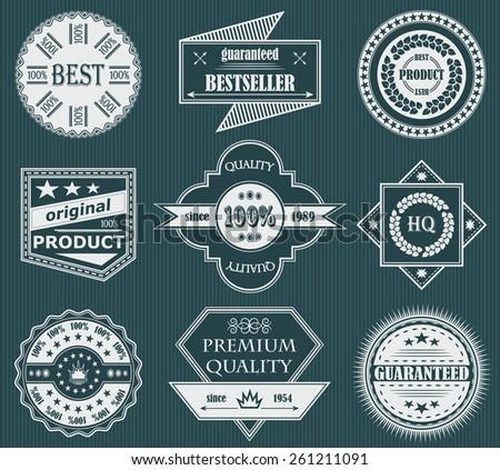 Premium quality labels. Set of vintage labels. Retro Design    - stock vector