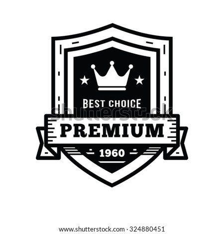 Premium Quality Labels with retro vintage styled design - stock vector
