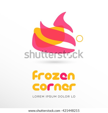 PREMIUM QUALITY LOGO / ICON DESIGN , IDEAL FOR ICE CREAM OR FROZEN YOGURT COMPANY - stock vector
