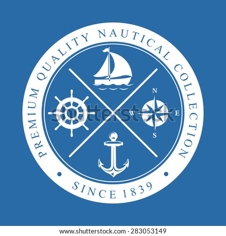 Premium Quality Nautical Collection - stock vector