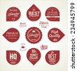 Premium Quality retro Labels - stock vector