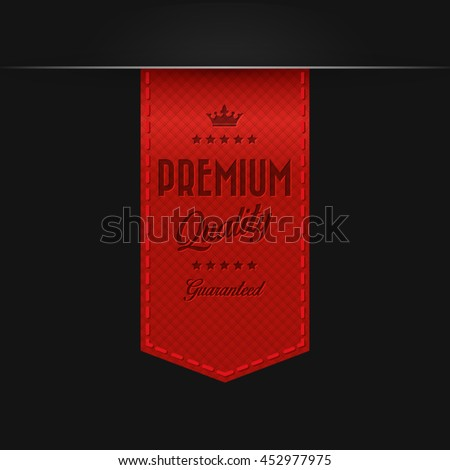 Premium quality ribbon - stock vector