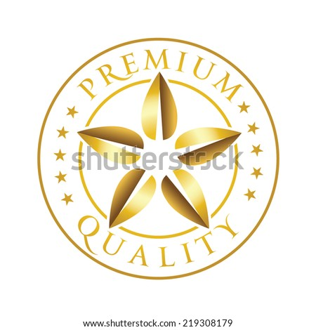 Premium Quality Sign. Vector - stock vector