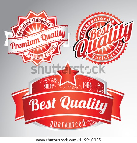 premium quality vintage labels - stock vector