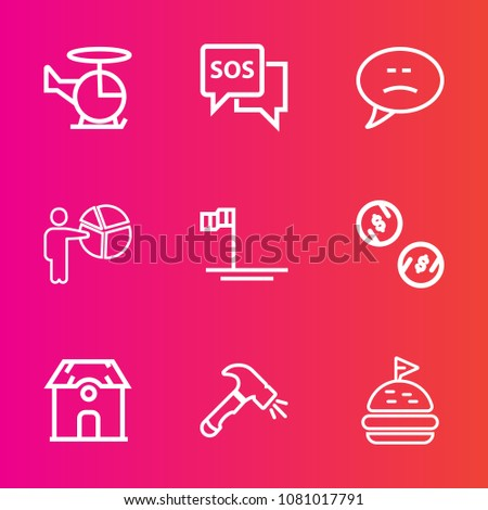 Premium Set Outline Vector Icons Such Stock Vector Royalty Free