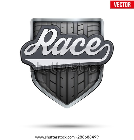 Premium  symbol of Race label. Symbol of sport or club. Vector Illustration isolated on white background. - stock vector