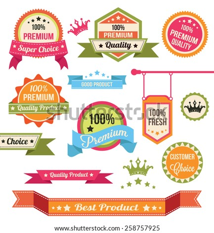 Premium Vector Badges and Labels - stock vector