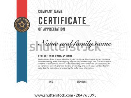 Premium vector design certificate. luxury, modern, - stock vector