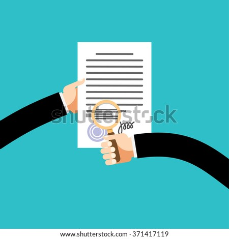 Preparation business contract - stock vector
