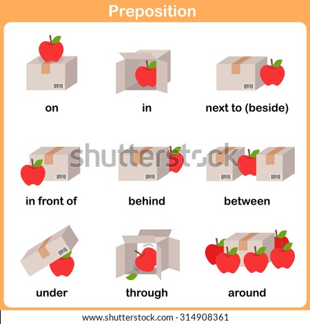 Printables Pic On Preposition preposition stock photos royalty free images vectors shutterstock of motion for preschool worksheet education