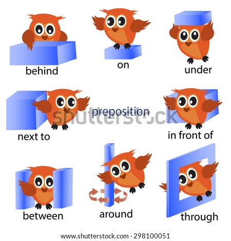 Worksheets Pic On Preposition preposition stock photos royalty free images vectors shutterstock with owl motion for preschool