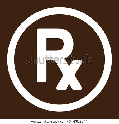 Prescription Symbol Vector Icon Style Flat Stock Vector 344302544
