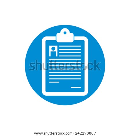 Prescription vector icon isolated. - stock vector