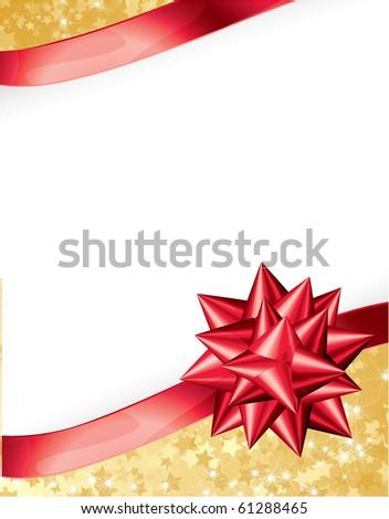 Present ribbon bow. Vector. - stock vector