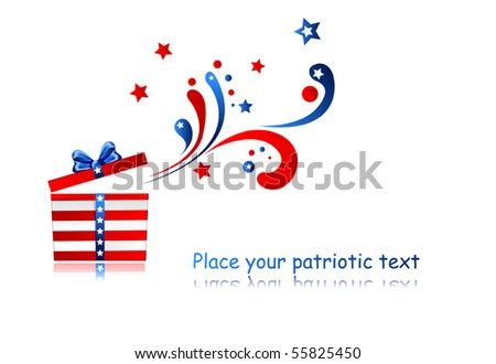 present with patriotic ornament