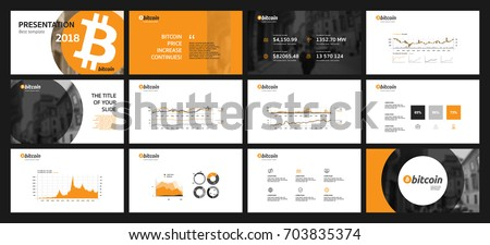 presentation about ccryptocurrency bitcoins this template stock vector 703835374 shutterstock. Black Bedroom Furniture Sets. Home Design Ideas
