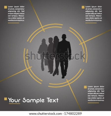 Presentation background with people in focus - stock vector