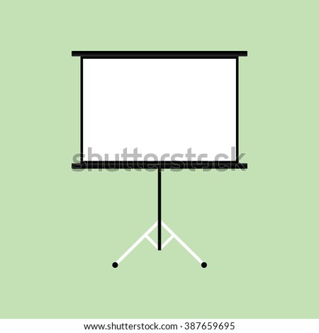 presentation board isolated with green background - stock vector