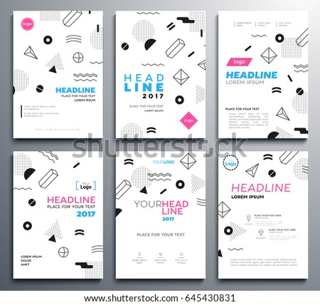 Presentation booklet covers vector template a4 stock vector presentation booklet covers vector template a4 pages with abstract memphis style background headline and pronofoot35fo Choice Image