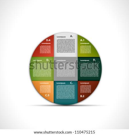 Presentation circle - stock vector