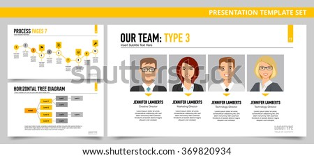 presentation dashboard template our team process stock vector 369820934 shutterstock. Black Bedroom Furniture Sets. Home Design Ideas