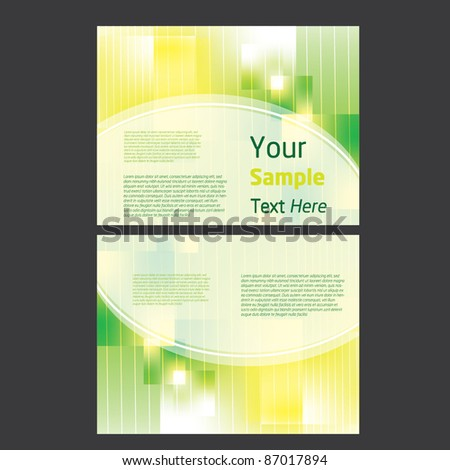 presentation design - stock vector