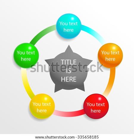 Presentation diagram elements, infographic template - stock vector