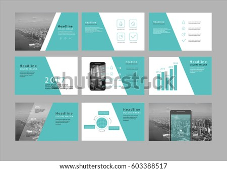 Presentation Flyer Pamphlet Brochure Template Design Stock Photo