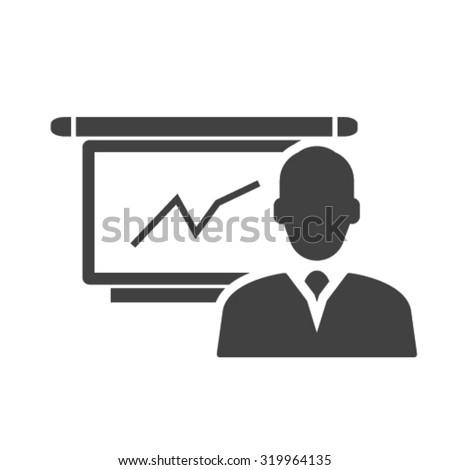 presentation icon - stock vector